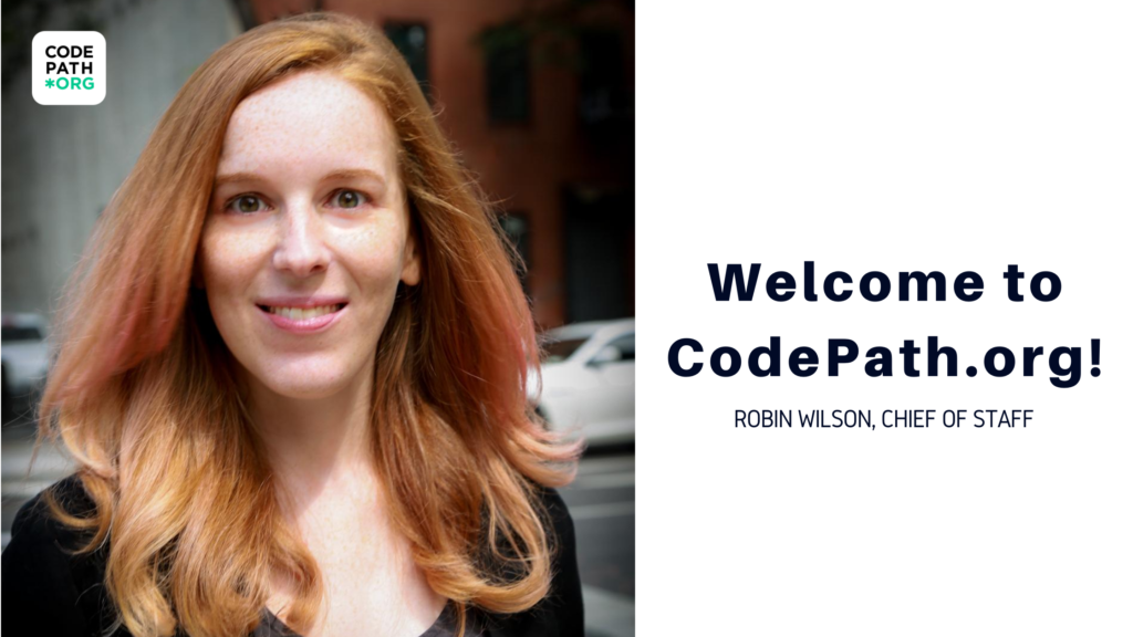 Robin Wilson, Chief of Staff at CodePath