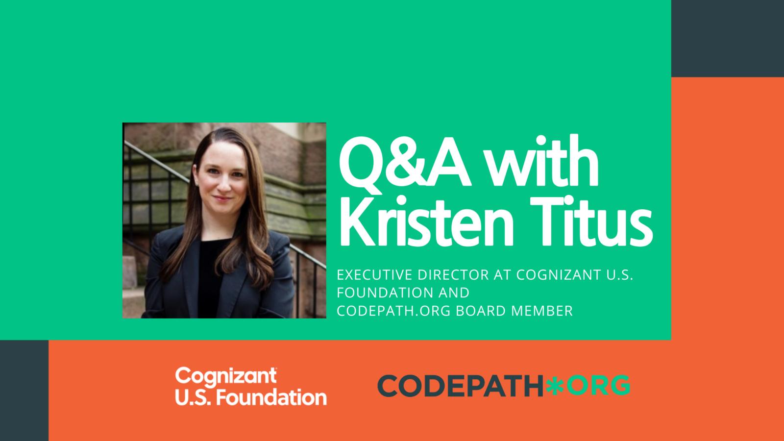 Q&A with Kristen Titus